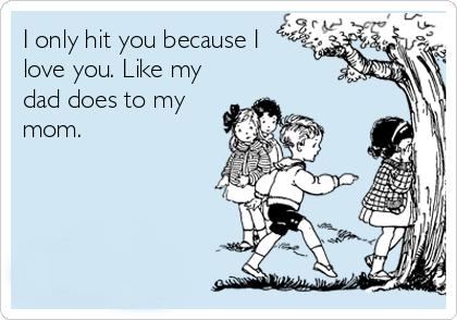 تو را زد چون دوستت دارد